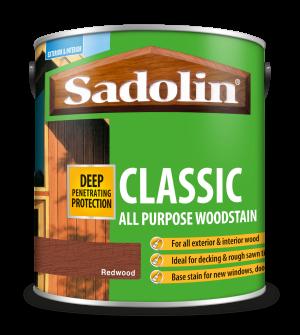 Sadolin Classic All Purpose Woodstain Redwood 2.5L [MPPSPRB]  5012897
