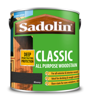 Sadolin Classic All Purpose Woodstain Ebony 2.5L [MPPSPEB]  5012903