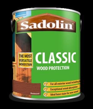 Sadolin Classic All Purpose Woodstain Redwood 5L [MPPSPRC]  5012919