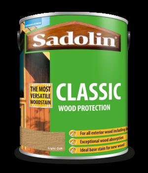 Sadolin Classic All Purpose Woodstain Light Oak 5L [MPPSPLC]  5012923