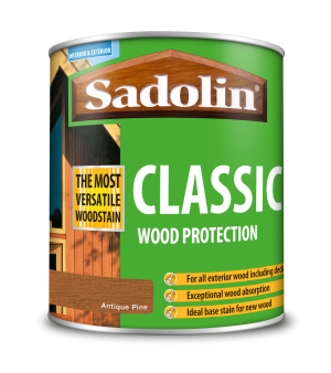 Sadolin Classic All Purpose Woodstain Antique Pine 1L [MPPSPPA]  5028457
