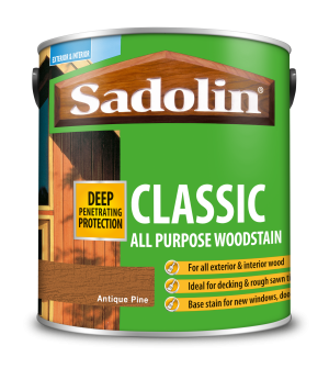Sadolin Classic All Purpose Woodstain Antique Pine 2.5L [MPPSPPB]  5028458