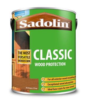 Sadolin Classic All Purpose Woodstain Antique Pine 5L [MPPSPPC]  5028459
