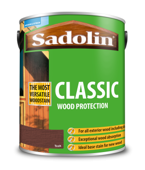 Sadolin Classic All Purpose Woodstain Teak 5L [MPPSPTC]  5028463