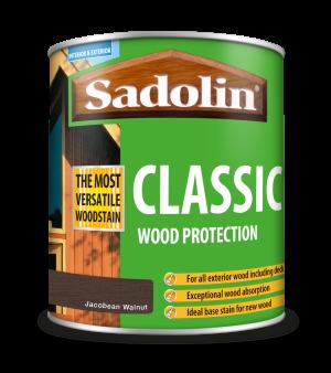 Sadolin Classic All Purpose Woodstain Jacobean Walnut 1L [MPPSPWA]  5028465