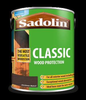 Sadolin Classic All Purpose Woodstain Jacobean Walnut 5L [MPPSPWC]  5028467