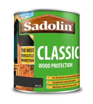 Sadolin Classic All Purpose Woodstain Ebony 1L [MPPSPEA]  5028470