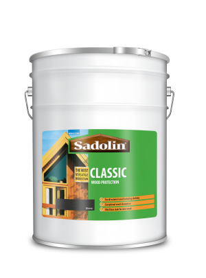 Sadolin Classic All Purpose Woodstain Ebony 20L  5028471