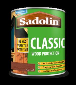 Sadolin Classic All Purpose Woodstain Redwood 1L [MPPSPRA]  5028473