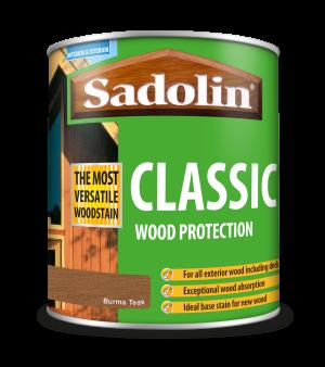 Sadolin Classic All Purpose Woodstain Burma Teak 1L [MPPSPTG]  5028479