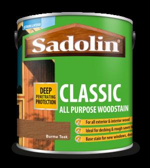Sadolin Classic All Purpose Woodstain Burma Teak 2.5L [MPPSPTH]  5028480