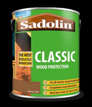 Sadolin Classic All Purpose Woodstain Burma Teak 5L [MPPSPTI]  5028481