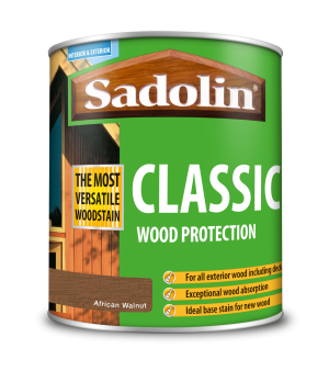 Sadolin Classic All Purpose Woodstain African Walnut 1L [MPPSPWG]  5028483