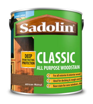 Sadolin Classic All Purpose Woodstain African Walnut 2.5L [MPPSPWH]  5028484