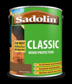 Sadolin Classic All Purpose Woodstain African Walnut 5L [MPPSPWI]  5028485