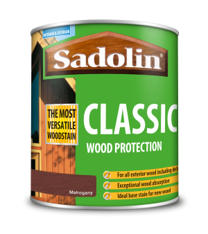 Sadolin Classic All Purpose Woodstain Mahogany 1L [MPPSSVB]  5028491