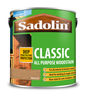 Sadolin Classic All Purpose Woodstain Natural 2.5L [MPPSSVE]  5028503