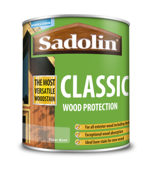 Sadolin Classic All Purpose Woodstain Clear 065 Base 1L  5028505