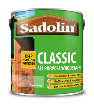 Sadolin Classic All Purpose Woodstain Clear 065 Base 2.5L  5028506