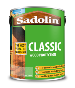 Sadolin Classic All Purpose Woodstain Clear 065 Base 5L  5028507
