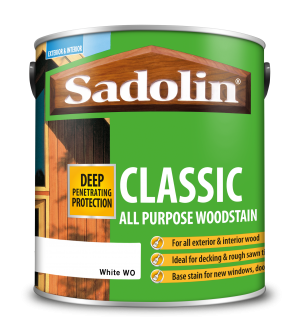 Sadolin Classic All Purpose Woodstain White Base 2.5L  5028509