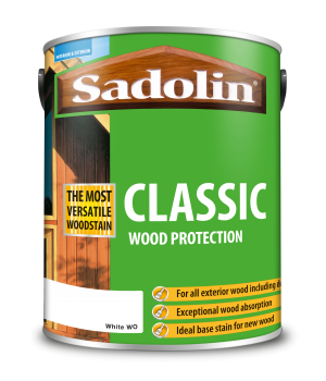 Sadolin Classic All Purpose Woodstain White Base 5L