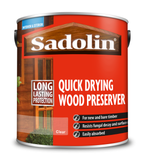 Sadolin Quick Drying Wood Preserver Clear 2.5L  5028751