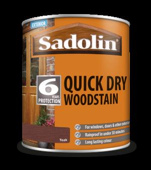 Sadolin Quick Dry Woodstain Teak 1L  5028777