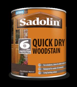 Sadolin Quick Dry Woodstain Jacobean Walnut 1L  5028780