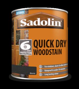 Sadolin Quick Dry Woodstain Ebony 1L  5028783