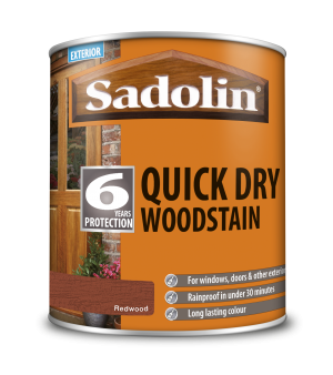 Sadolin Quick Dry Woodstain Redwood 1L  5028786