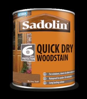 Sadolin Quick Dry Woodstain Burma Teak 1L  5028789