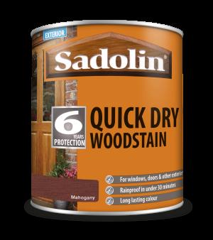 Sadolin Quick Dry Woodstain Mahogany 1L  5028795