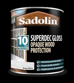 Sadolin Superdec Gloss Super White 1L [MPPSD1A]  5028850