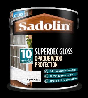 Sadolin Superdec Gloss Super White 2.5L [MPPSSD3]  5028851