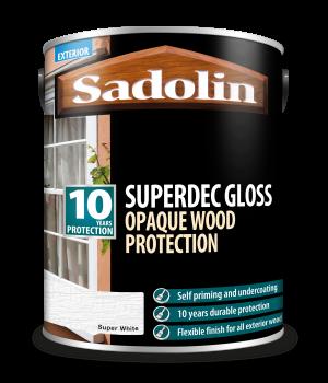 Sadolin Superdec Gloss Super White 5L  5028852