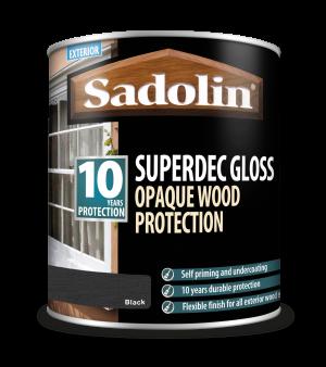 Sadolin Superdec Gloss Black 1L [MPPSSD7]  5028853