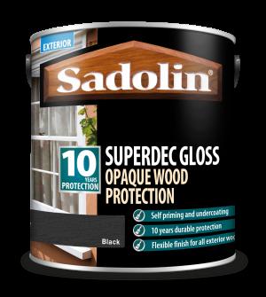 Sadolin Superdec Gloss Black 2.5L [MPPSSD6]  5028854
