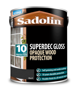 Sadolin Superdec Gloss Black 5L  5028855