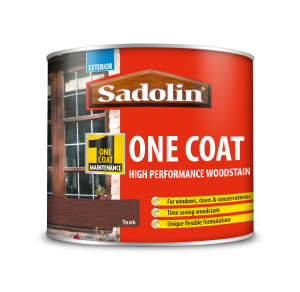 Sadolin One Coat High Performance Woodstain Teak 500ml