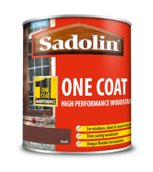 Sadolin One Coat High Performance Woodstain Teak 1L