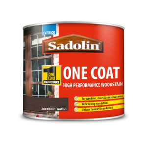 Sadolin One Coat High Performance Woodstain Jacobean Walnut 500ml