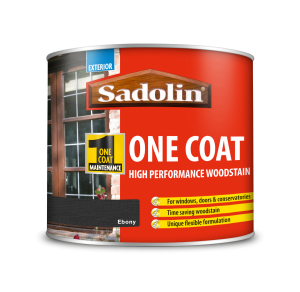 Sadolin One Coat High Performance Woodstain Ebony 500ml