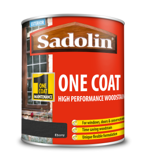 Sadolin One Coat High Performance Woodstain Ebony 1L
