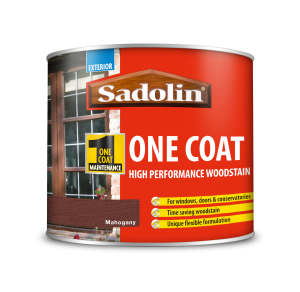 Sadolin One Coat High Performance Woodstain Mahogany 500ml
