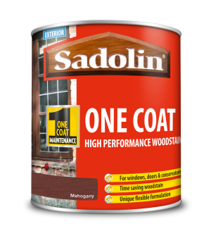 Sadolin One Coat High Performance Woodstain Mahogany 1L