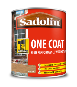 Sadolin One Coat High Performance Woodstain Natural 1L