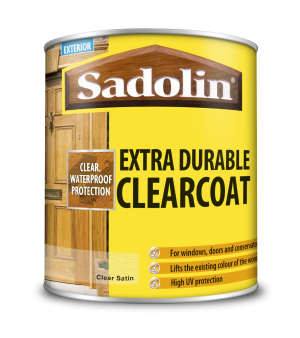 Sadolin Extra Durable Clearcoat Clear Satin 1L  5040852
