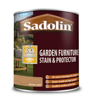 Sadolin Garden Furniture Stain & Protector Golden Oak 1L