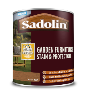 Sadolin Garden Furniture Stain & Protector Warm Teak 1L